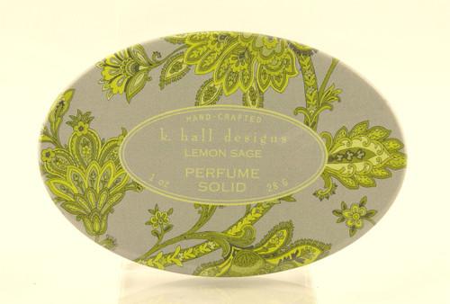 Lemon Sage Solid Perfume K. Hall Design Decorative Tin 1oz
