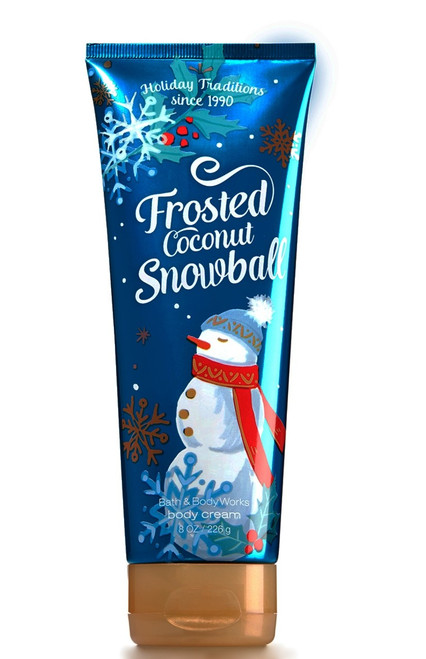 Frosted Coconut Snowball Ultra Shea Body Cream Bath and Body Works 8oz