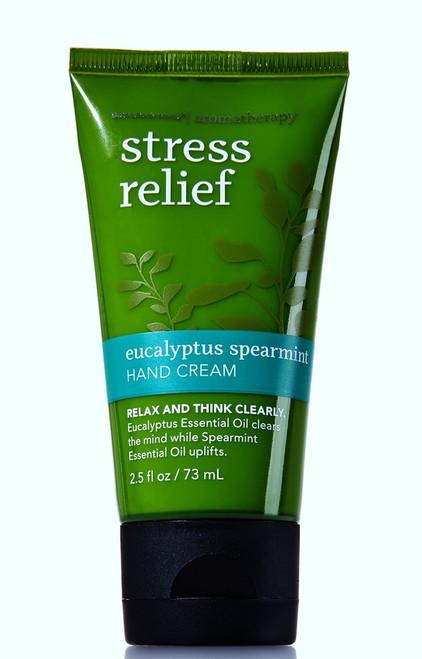 Eucalyptus Spearmint Aromatherapy Stress Relief Hand Cream Bath and Body Works 2.5oz