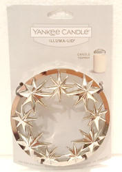 Stars Chrome Illuma Lid Jar Candle Topper Yankee Candle