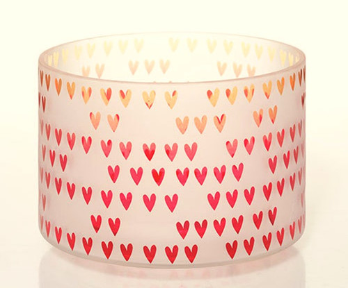 Dreaming of Love Frosted Glass Barrel Jar Shade Yankee Candle