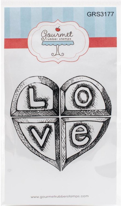 Love Heart Cling Rubber Stamp Gourmet