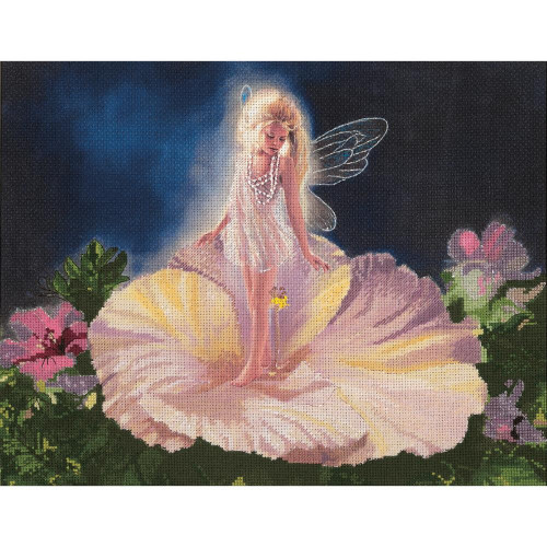 La Fleur Embellished Cross Stitch Kit Candamar