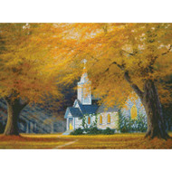 The Church in The Glen Gold Collection Counted Cross Stitch Kit Candamar