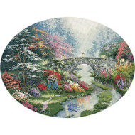 Still Water Bridge Embellished Cross Stitch Kit Thomas Kinkade Candamar