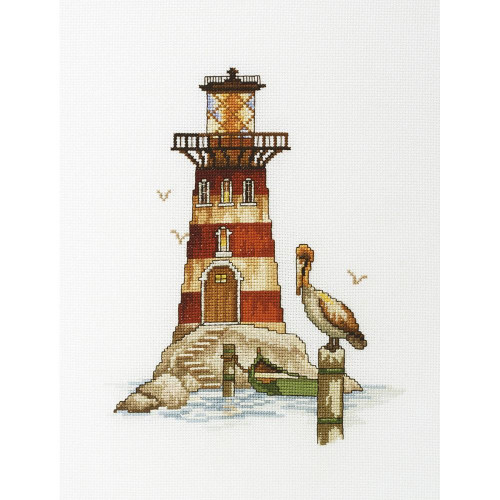 Pelican Lighthouse Counted Cross Stitch Kit RTO