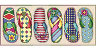 Flip Flop Fun Counted Cross Stitch Kit Vickery Collection