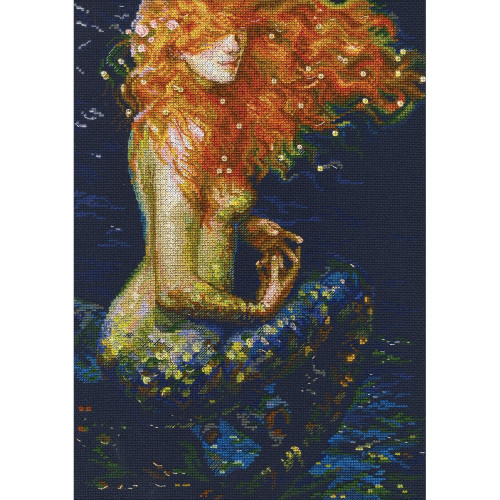 Red Mermaid Counted Cross Stitch Kit RTO