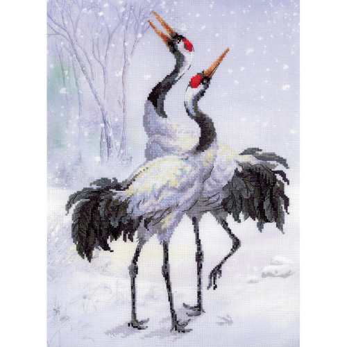 Cranes Counted Cross Stitch Kit Riolis