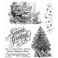 Christmas Magic Collection Rubber Cling Stamp Tim Holtz