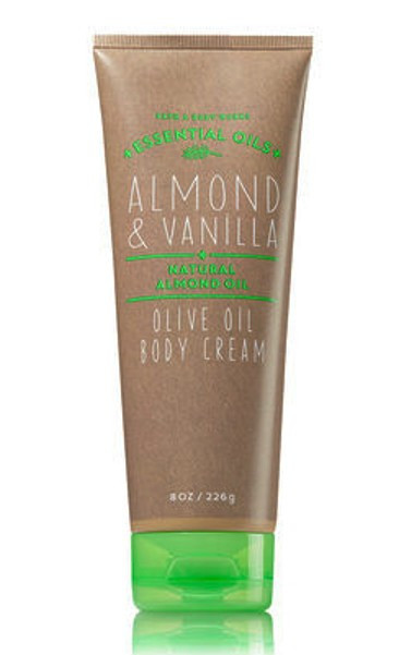 Almond Vanilla Olive Oil Body Cream Bath and Body Works 8oz