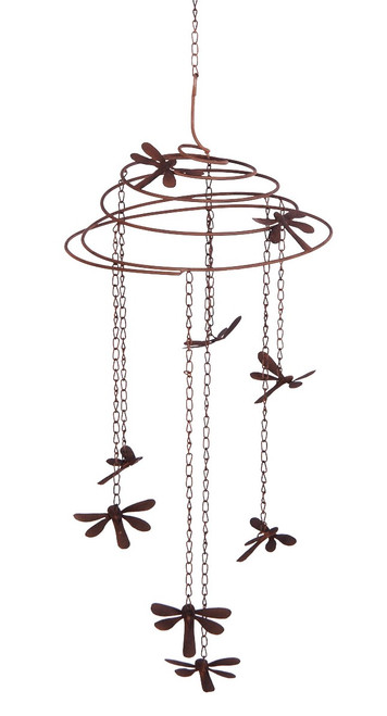 Dragonfly Slinky Metal Mobile Wind Chime