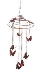 Butterfly Slinky Metal Mobile Wind Chime