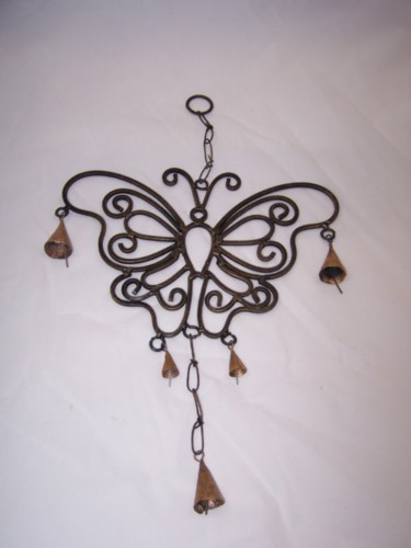 Iron Butterfly and Cow Bell Wind Chime