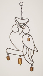 Shop here now for Iron Owl Wind Chime Cow Bells