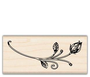 Rose Bud Inkadinkado Wood Stamp