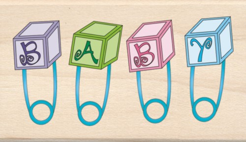 Buy Baby Pins Inkadinkado Wood Stamp Free Shipping
