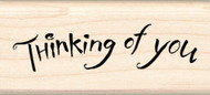 Thinking Of You Inkadinkado Wood Stamp