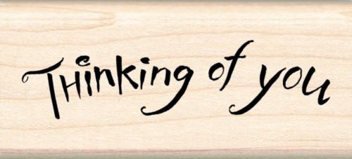 Thinking Of You Inkadinkado Wood Stamp