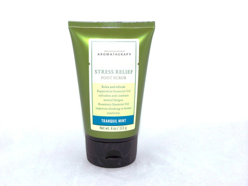 Tranquil Mint Stress Relief Aromatherapy Foot Scrub Bath and Body Works-Click here to shop now.