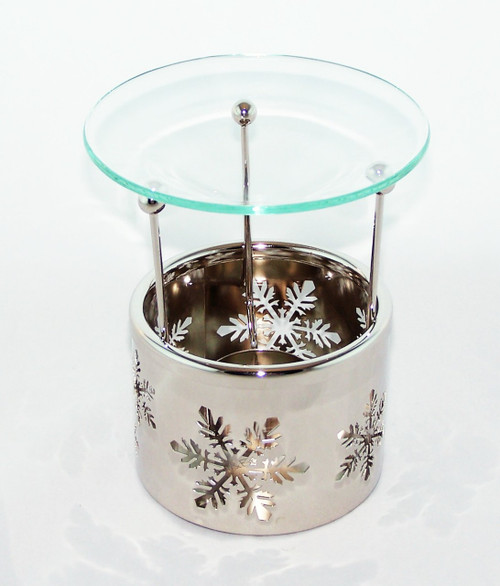 Winter wonderland Snowflake cutout metal oil warmer- Buy at Archway Variety