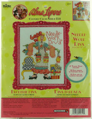 Needlework Diva Counted Cross Stitch Kit Alma Lynne Bucilla