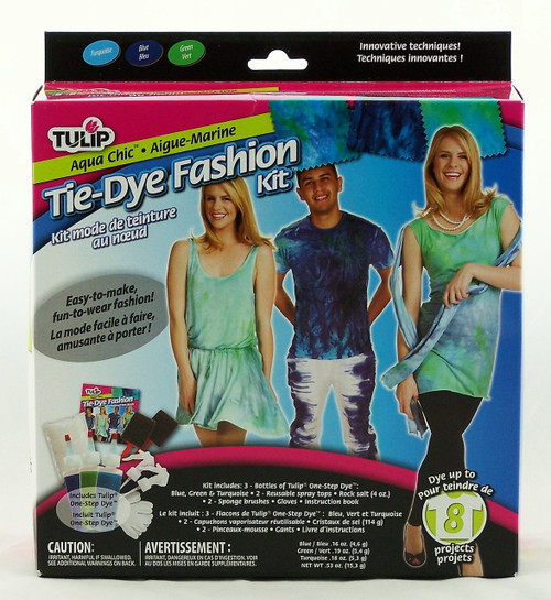 Click to buy Aqua Chic Tie Dye Fashion Kit from Tulip