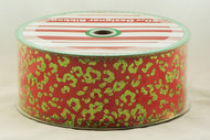 Click here now for this Leopard Print Green Glitter on Red Wired Ribbon