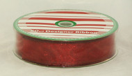 Buy here now! Dark Red Sheer speckled Wired Ribbon
