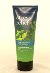 Shop now for Eucalyptus Basil Stress Relief Body Cream Bath and Body Works