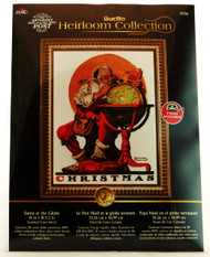 Shop here now for Santa At Globe Heirloom Collection Counted Cross Stitch Kit Bucilla