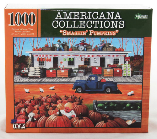 Shop now for Smashin Pumpkins 1000 piece Jigsaw Puzzle Americana Collection Harvest Fun!