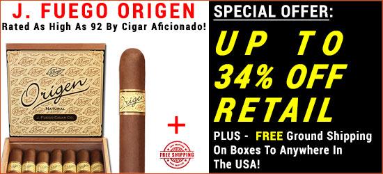 J. FUEGO ORIGEN CIGARS