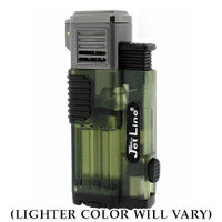 JetLine Gotham Triple-Flame Lighter (Color will vary)