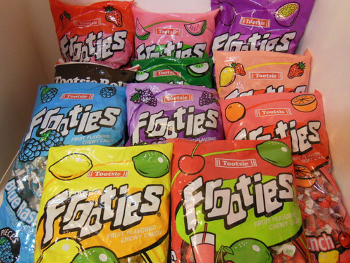 3 Lbs Frooties Flavored 3¢ Tootsie Roll Uchoose mix Pinata Party 1970's Nut Free