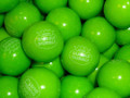"Green Apple Gum Balls Dubble Bubble 1""  1 lb Gumballs"