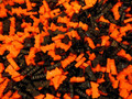 Black and Orange Candy Coated Ding Bats  1 Lb