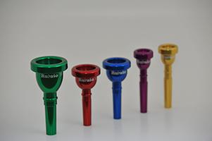 Rubato Violet Gold Blue Red Green Trumpet Trombone Baritone Euphonium Tuba Mellophone Mouthpieces www.rubatomouthpieces.com