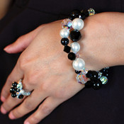 Allure Statement Bracelet. Shown with Cluster Ring in Allure.