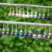 Top row (left to right): Bronze, Champagne, White, Light Gray, Dark Gray, Black Bottom Row (left to right): Brown, Dark Green, Peacock, Dark Purple, Mauve, Burgundy