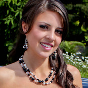 Allure Statement Necklace shown with the Allure Statement Cluster Earrings.