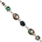 Abalone &amp; Swarovski Crystal Bracelet