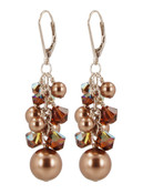Almond Roca Cluster Earrings