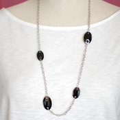 Roxie Necklace in Jet (Black)