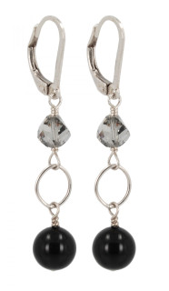 Black Tie Drop Earrings