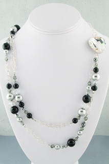 Black Tie Eclectic Long Necklace