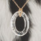 Cosmic Oval Necklace in 18K Gold Vermeil Crystal (Clear)