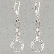 Cosmic Ring Dangles in Sterling Silver Crystal (Clear)