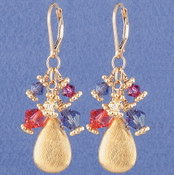 Fruit Punch Cluster Earrings