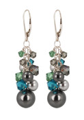 Jade Garden Cluster Earrings